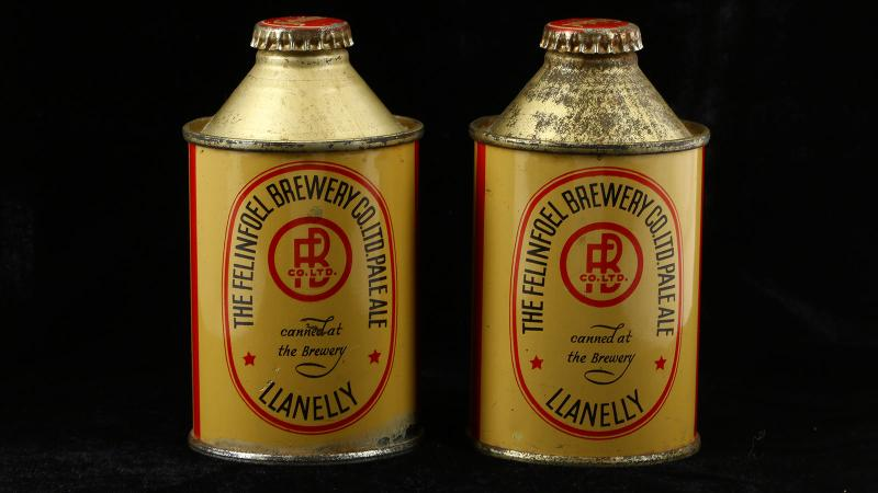 These two cans of Felinfoel beer dating from 1936 were sold by Chiswick Auctions in London for $2,804.