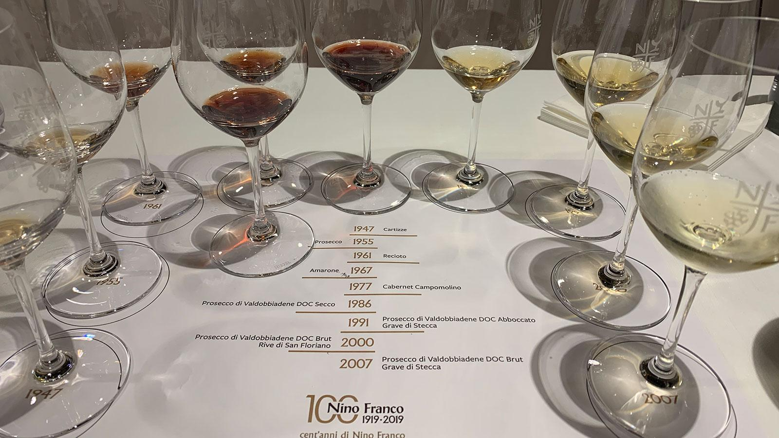 A tasting of Nino Franco wines
