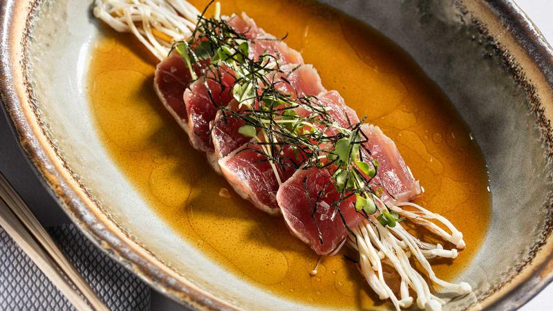 Oceans' array of seafood offerings includes this ahi tuna tataki.