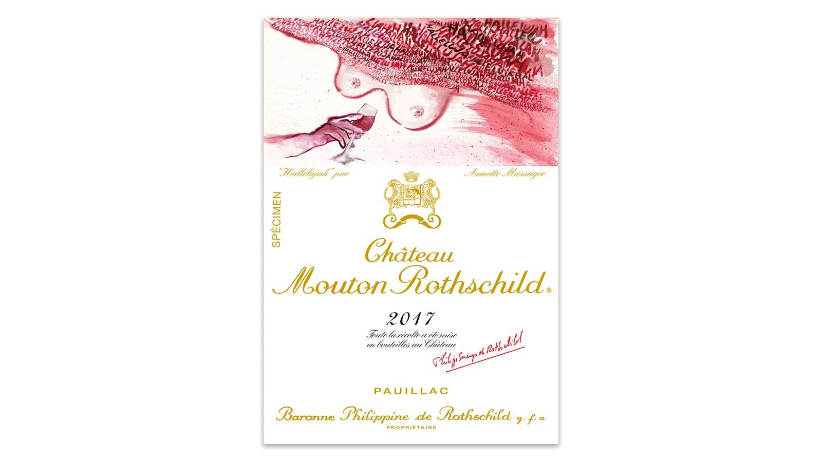Mouton-Rothschild 2017 label