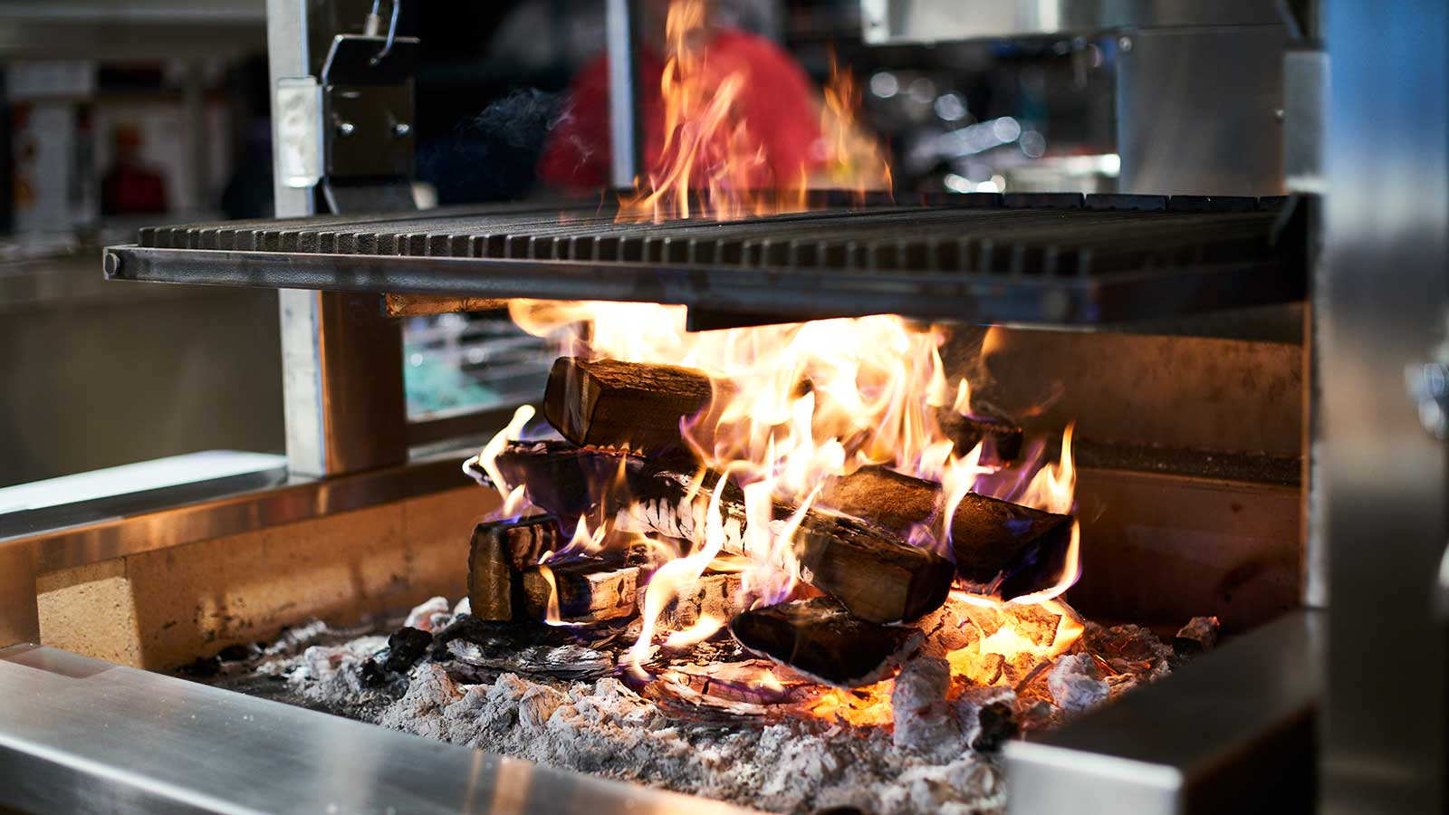 Open-flame cooking at Ember