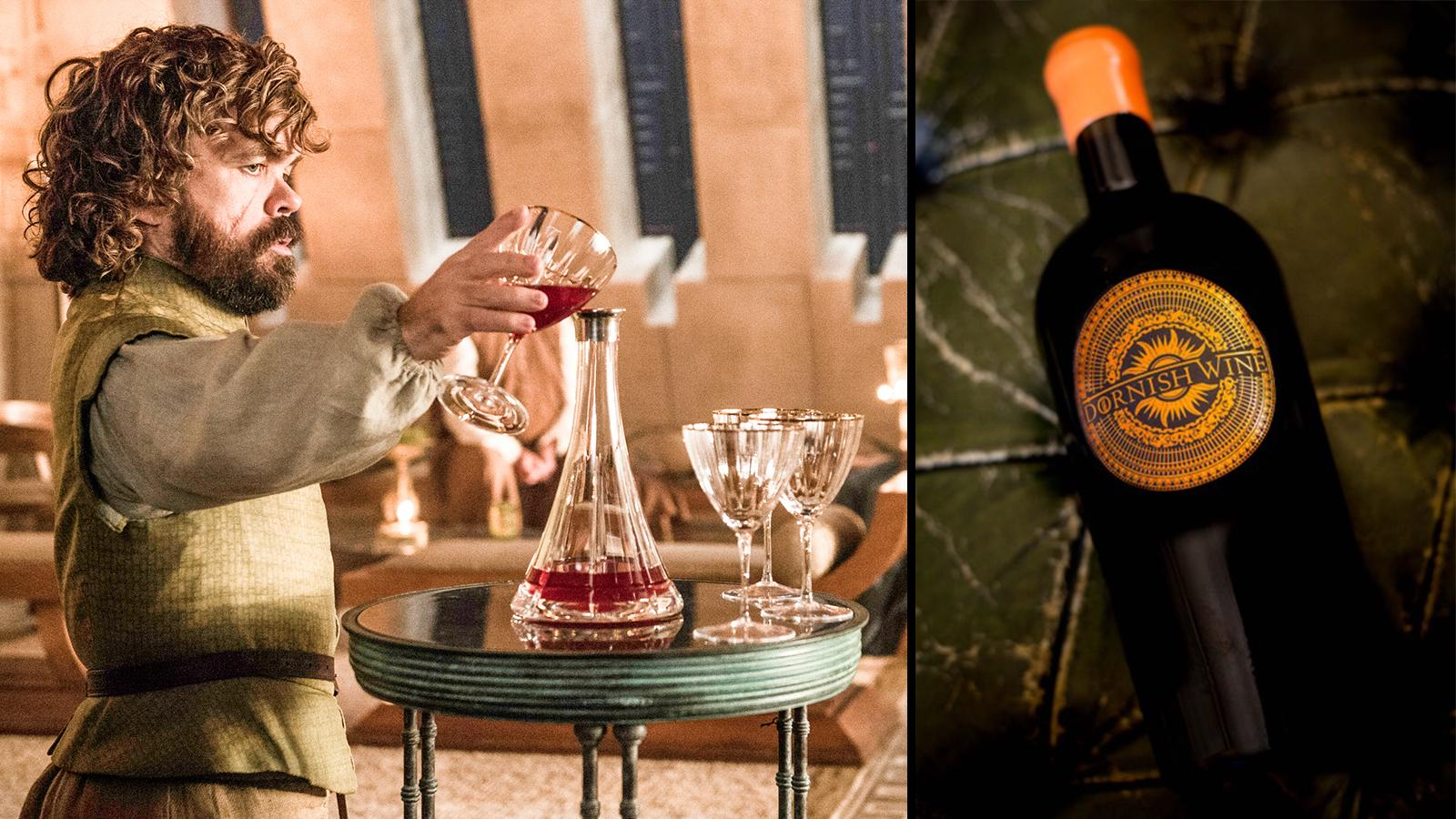 Tyrion Lannister (left) and the St.-Emilion Dornish cuvée