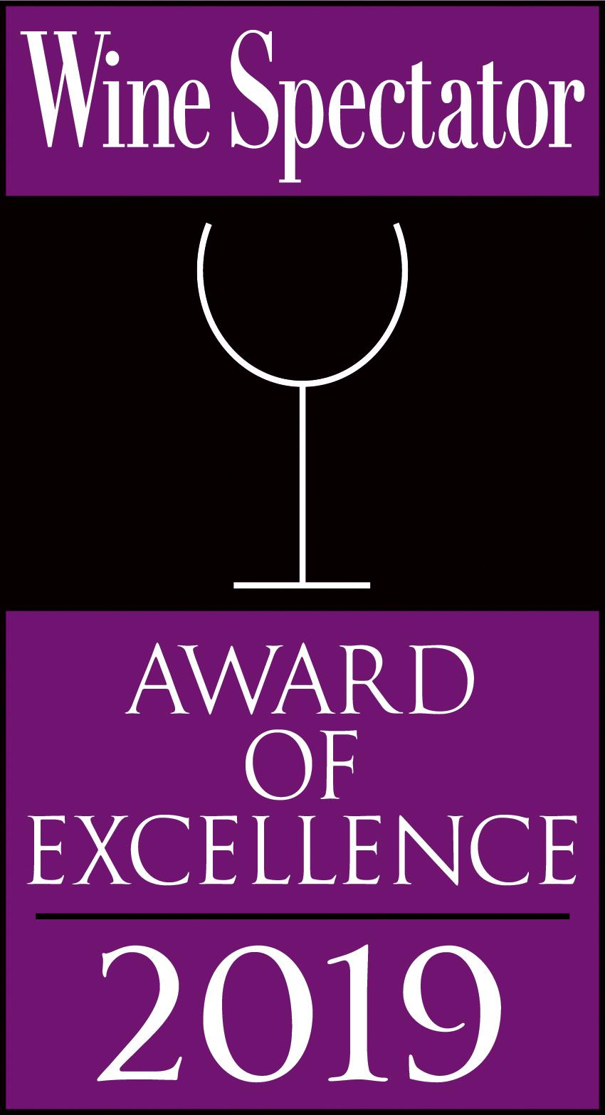 Wine Spectator Award of Excellence: 2019