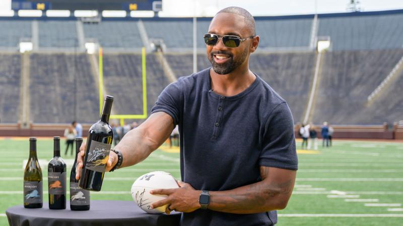 Charles Woodson lauched his new Intercept line of wines in August 2019 to much fanfare at Michigan Stadium, where he played in college.