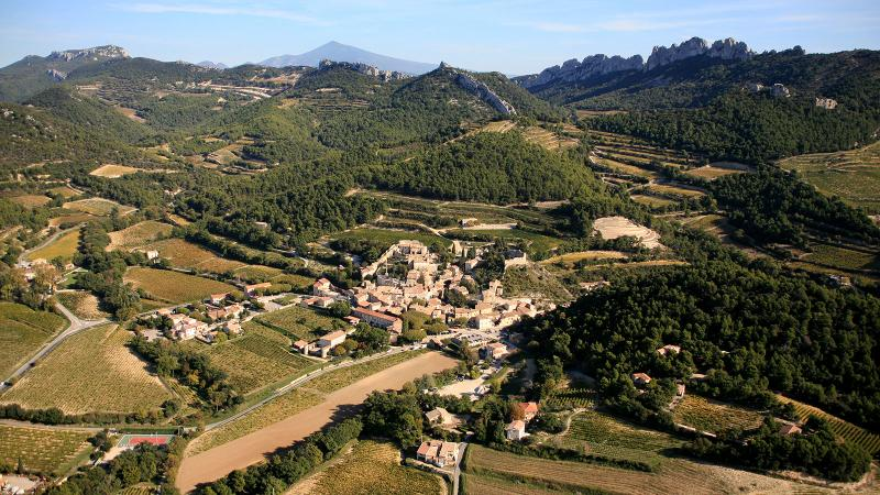 The Southern Rhône's Gigondas village is known for complex and appealing Grenache blends.