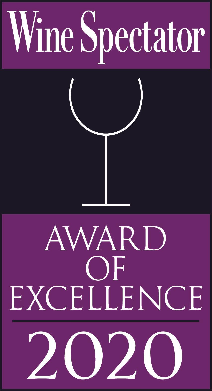 Wine Spectator Award of Excellence: 2020