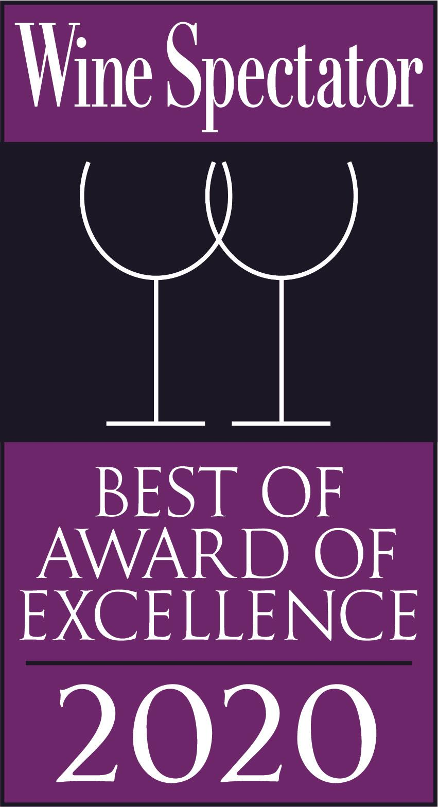 Wine Spectator 2020 - Best of award of excellence