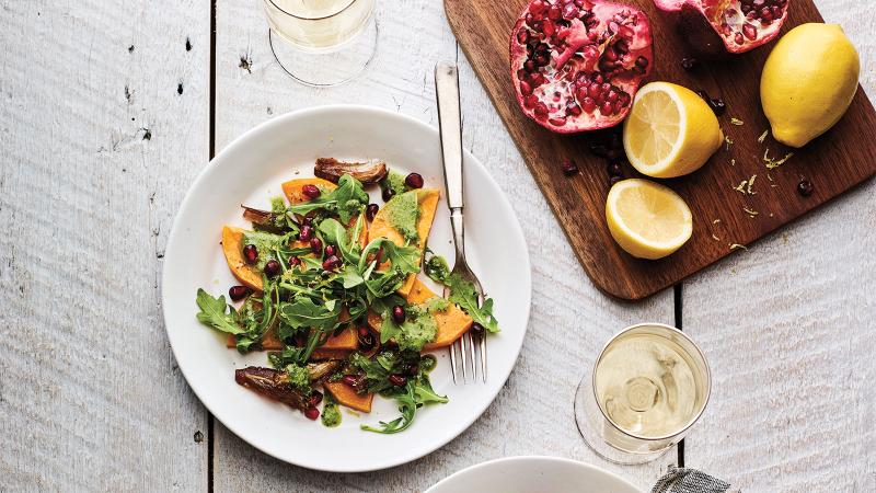 Squash Salad with a Rhône White
