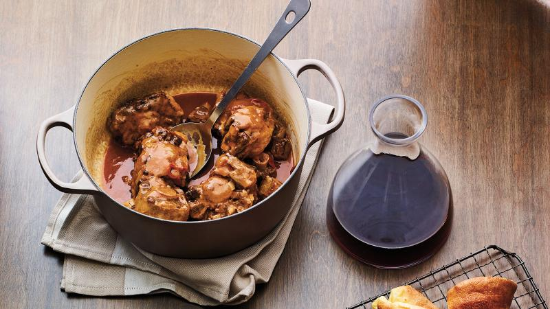 Slow-Cooked Oxtail With Barolo
