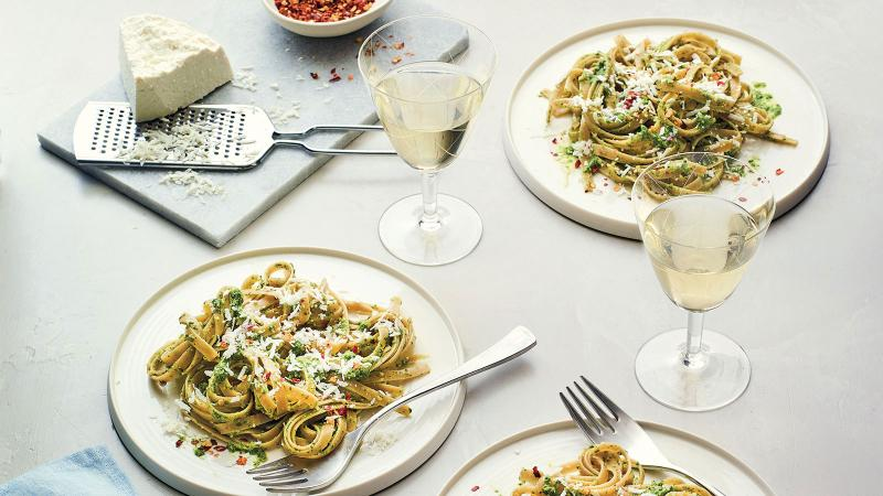 Pesto Fettuccine with Grechetto