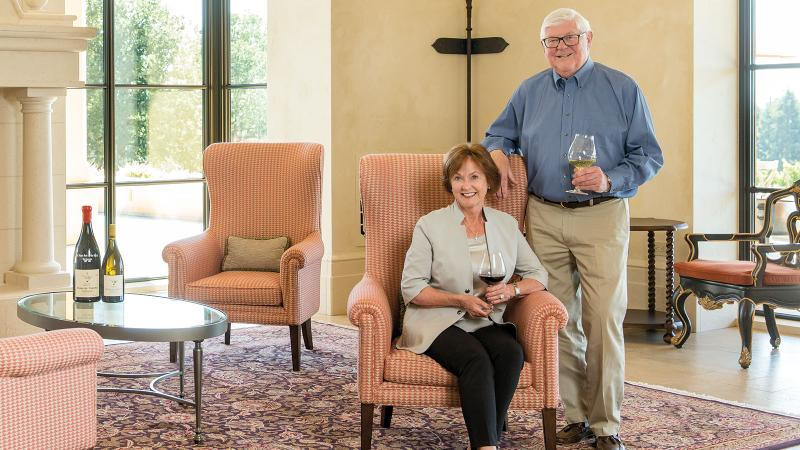 Ken and Grace Evenstad have invested both faith and resources in the Oregon wine industry.