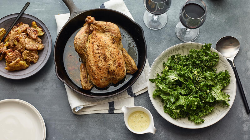 Roast Chicken with Beaujolais