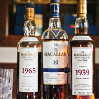 The French Laundry's spirits list includes rare bottlings from Macallan.