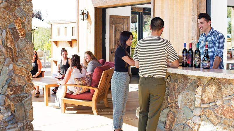 The tasting room at Michael David Winery, in Lodi, features a café and a bakery in addition to pours of the producer's wine. Its 2016 Zinfandel is one of this report's top values.