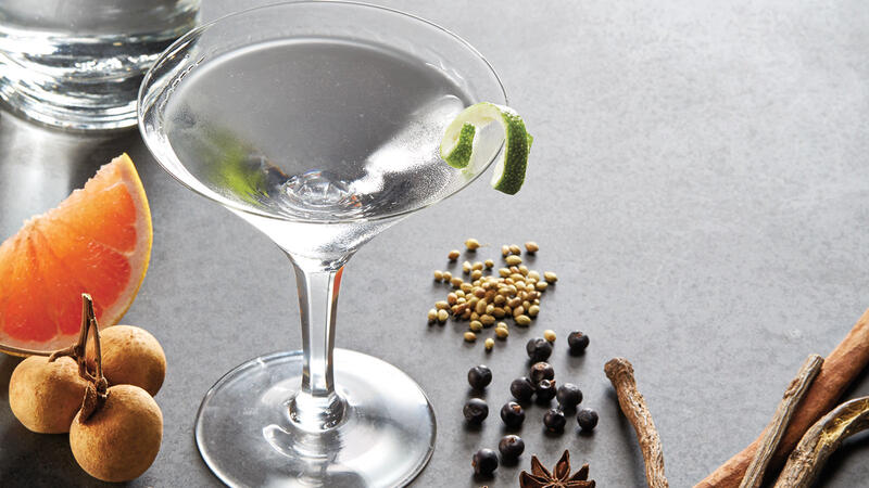 Gin with a range of common botanicals.