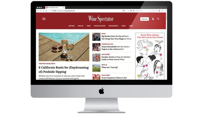 Wine Spectator Revamps Website