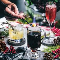 Evoking the holiday spirit with a few delightful and dairy-free choices of merry drinks.