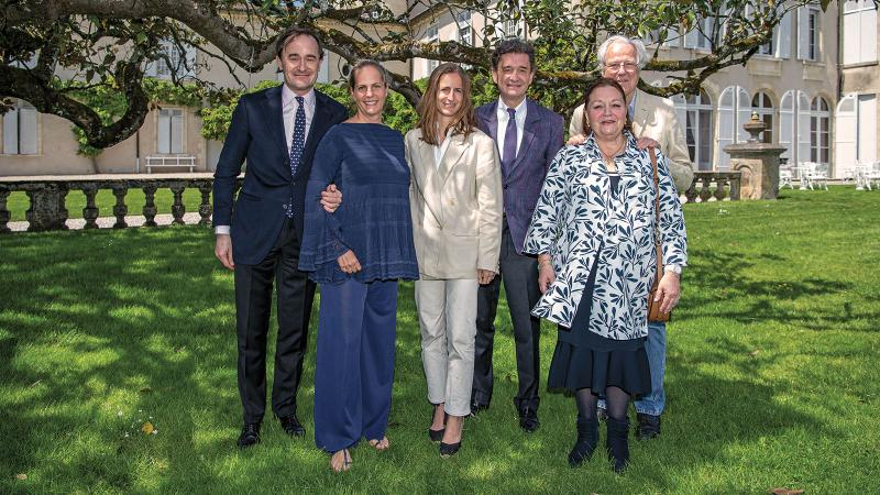 From left: Julien de Beaumarchais de Rothschild, Ariane de Rothschild, Saskia de Rothschild, Philippe Sereys de Rothschild, Camille Sereys de Rothschild and Eric de Rothschild.