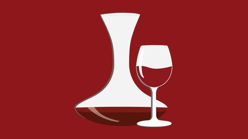 What causes a red wine to foam up when aerating or poured into a decanter?
