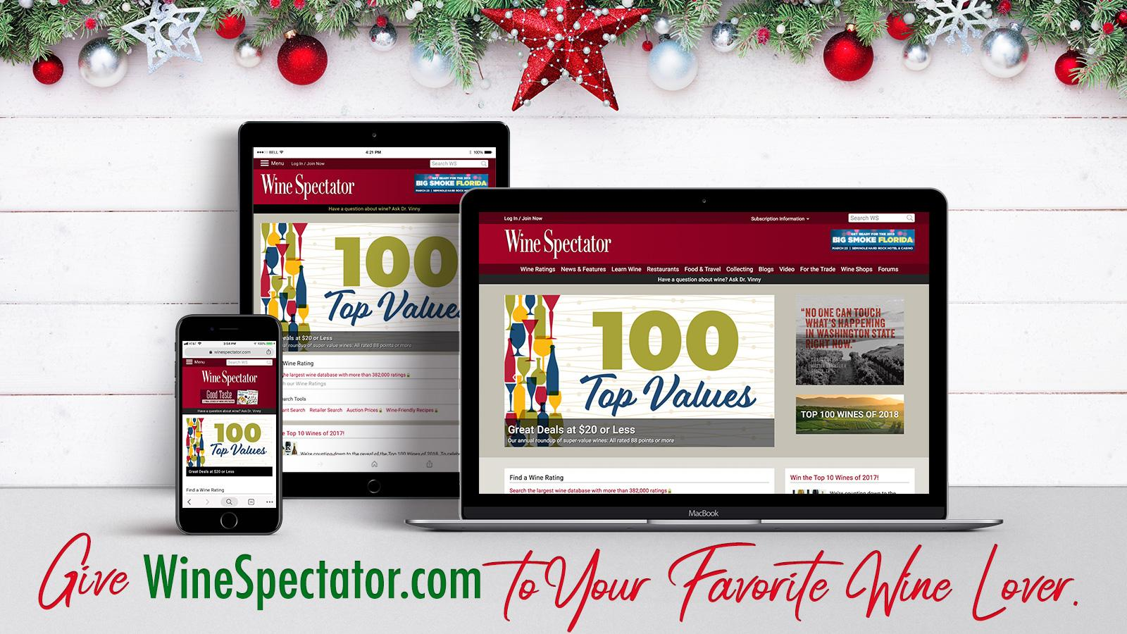 Give the Gift of WineSpectator.com